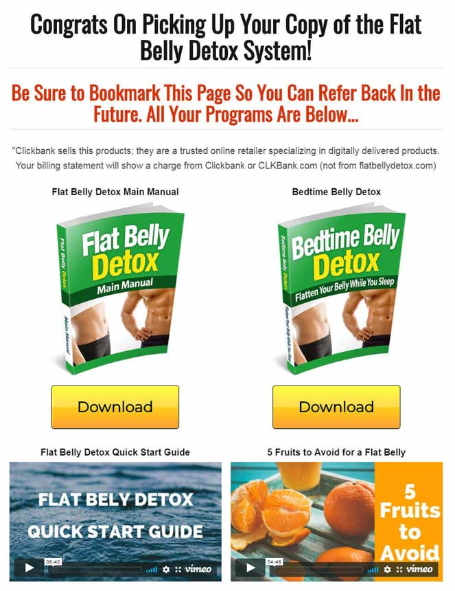 Josh Houghton's Flat Belly Detox Download