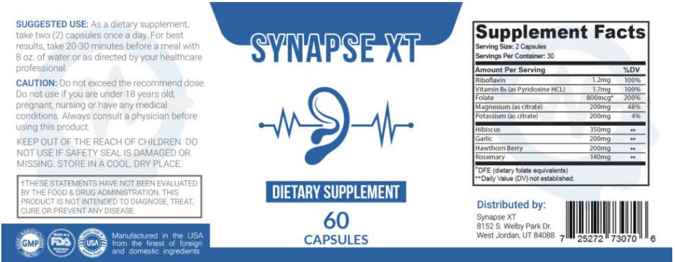 Synapse Xt Dietary Supplement